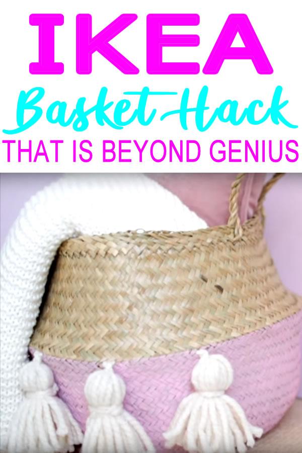 IKEA Basket Hack _ IKEA hacks and storage__