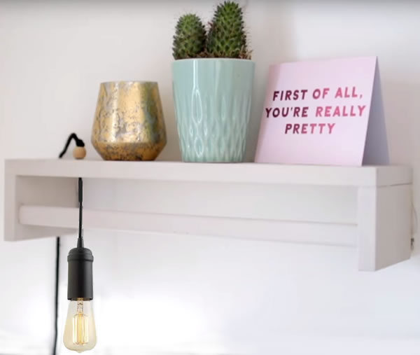 Totally Clever IKEA Spice Rack Hack For Cute Bedroom Shelf