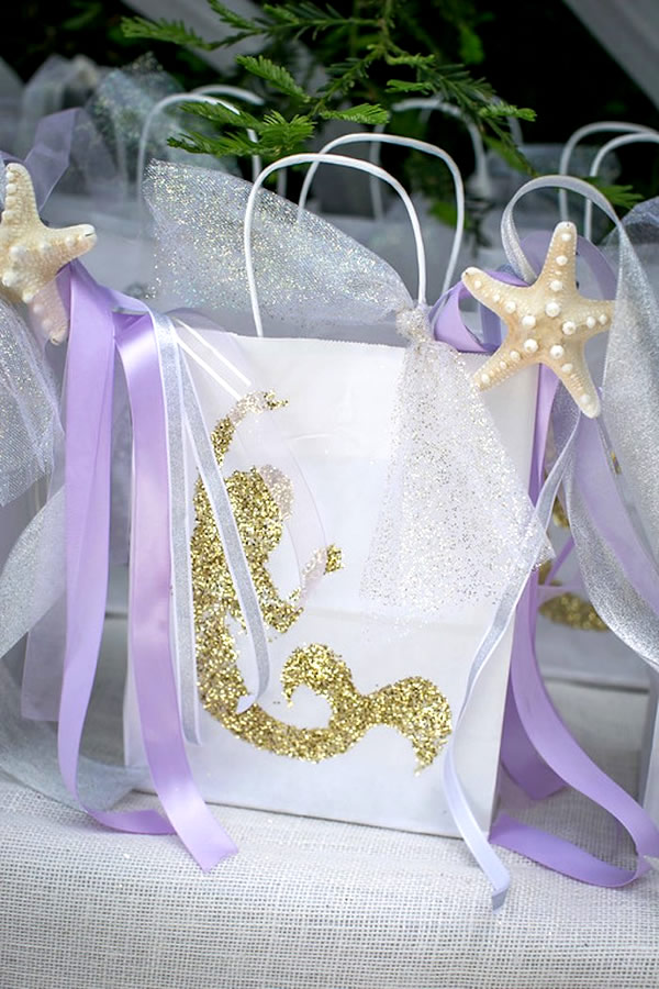 Mermaid party favor bags