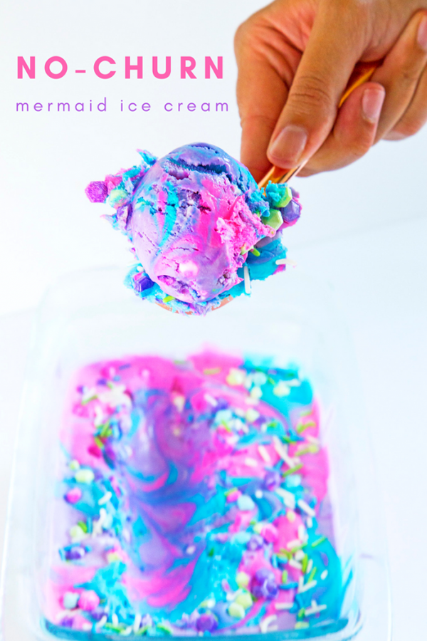 No-Churn-Mermaid-Ice-Cream-Party Favor Idea
