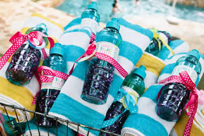 Pool Party Favor Towel Ideas