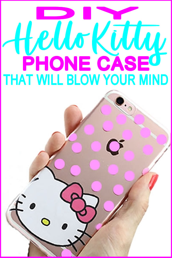 diy hello kitty phone case