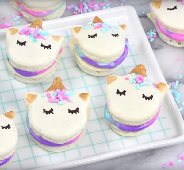 diy homemade unicorn macarons