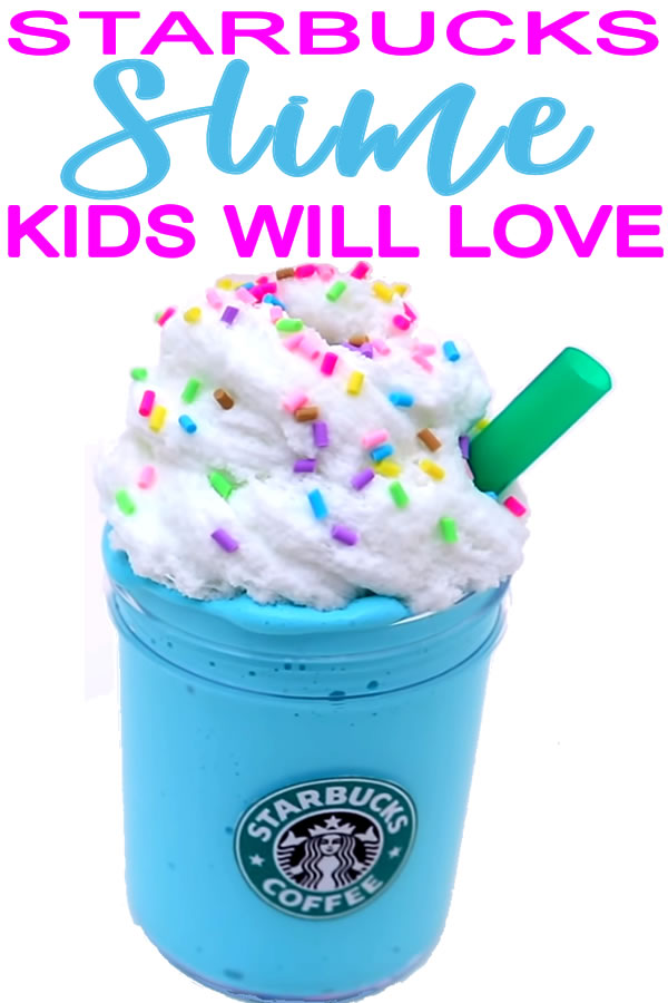 Amazing Starbucks Frappuccino Slime You Will Want To Make Today! Slime DIYs For Kids