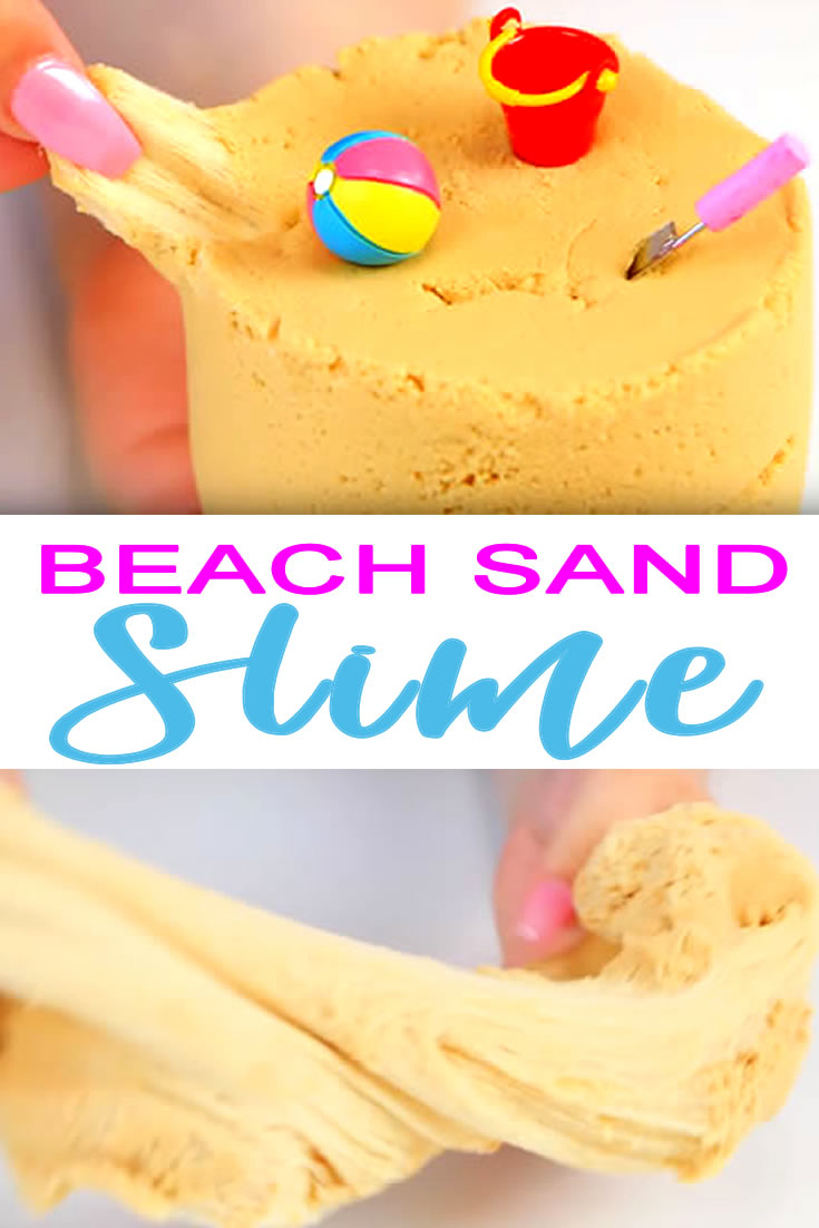 How To Make Homemade Sand Slime | DIY Slime Recipe Kids Will Love