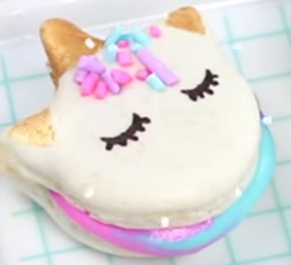 homemade unicorn macarons