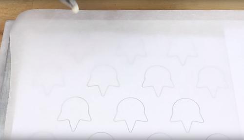 unicorn macarons template