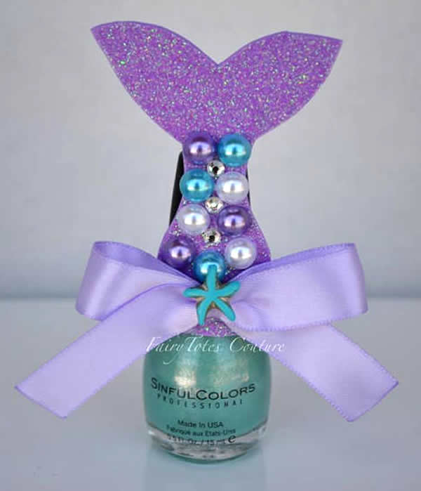 mermaid birthday party favor idea