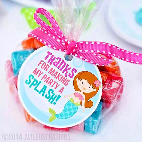mermaid party favor goodie bag