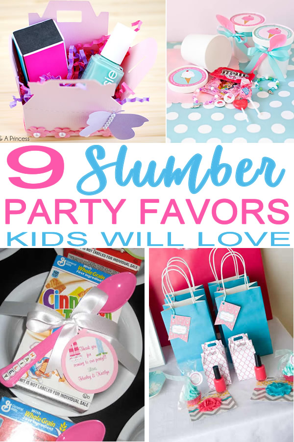 slumber party favor ideas