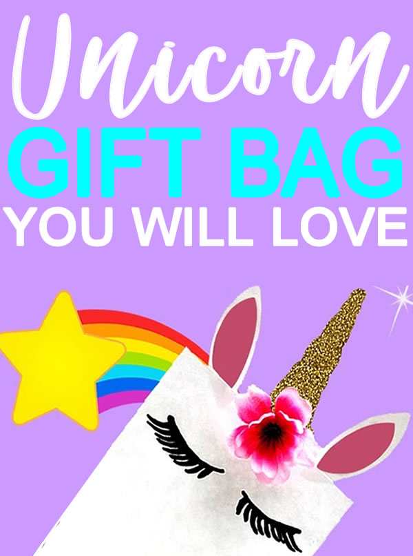 DIY Unicorn Gift Bags _ how to make unicorn party bags_