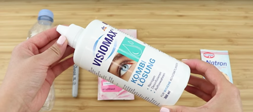 contact lens solution slime diy