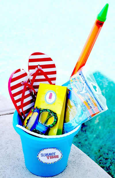 pool party gift bag ideas