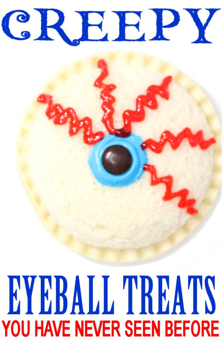 Creepy Eyeball Treats | Easy & Spooky Halloween Snacks | {Spooktacular Halloween Snacks For School Parties – Adults & Kids! Cute DIY Halloween Food!}