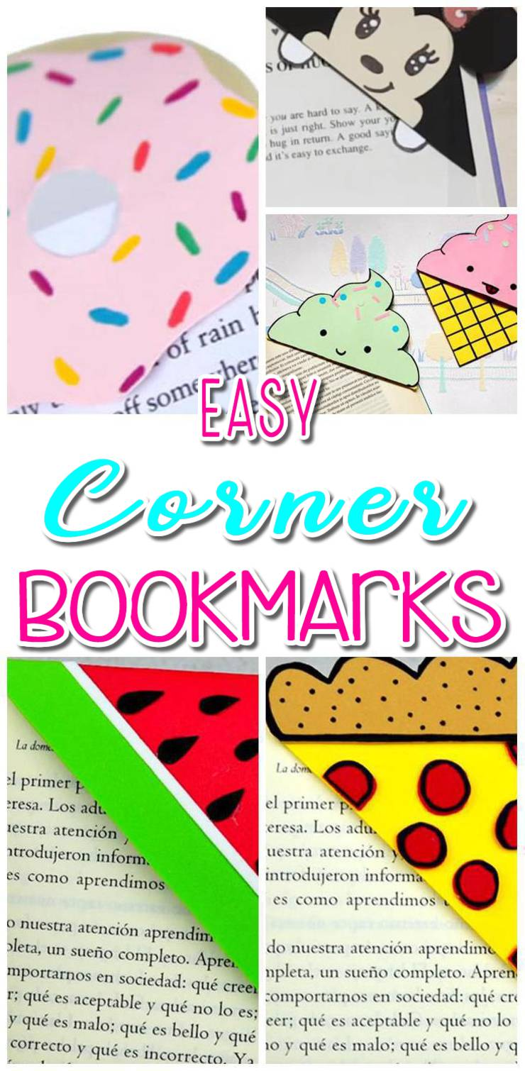 diy corner bookmarks - cute bookmark ideas - learn how to make