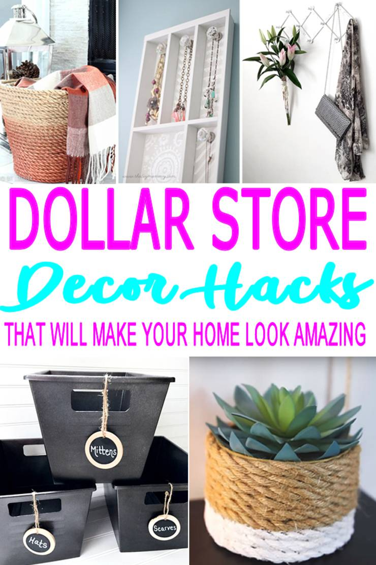 DIY Dollar Store Hacks | Home Decor Craft Projects