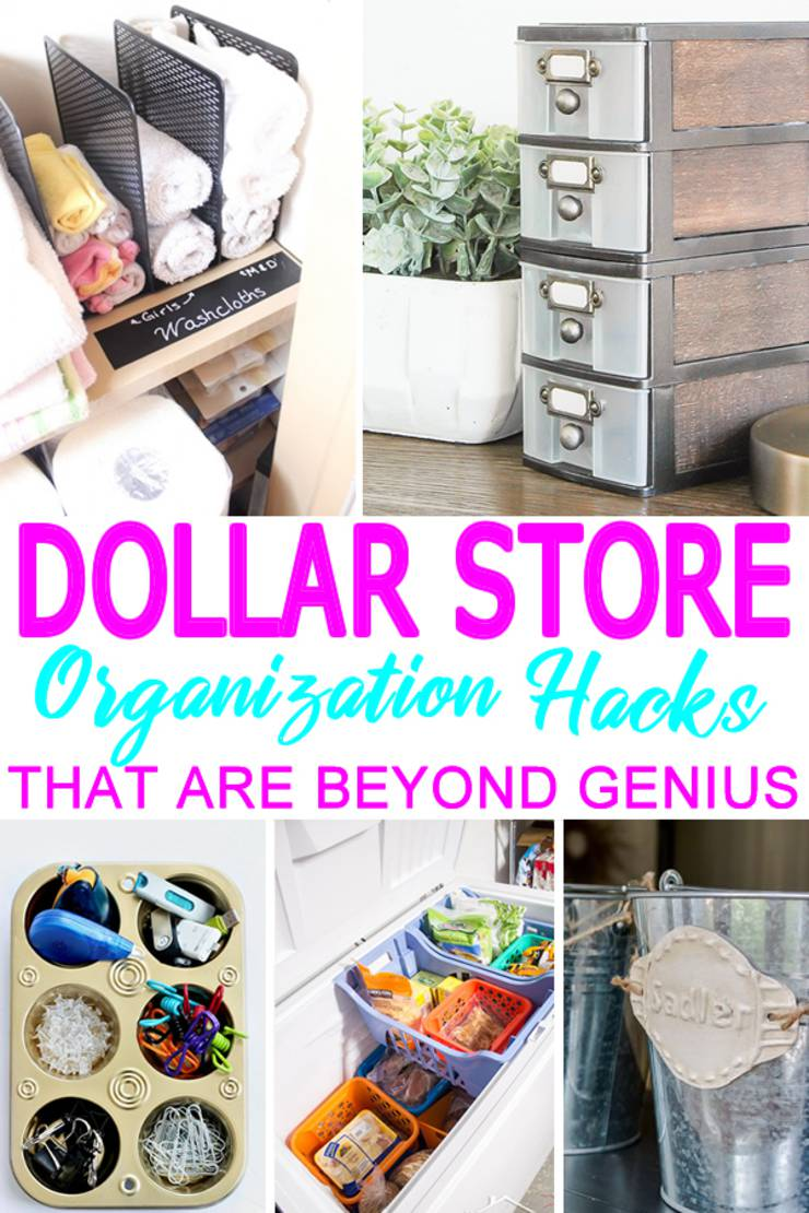 DIY Dollar Store Hacks_Organization & Storage Ideas - DIY Projects For Home