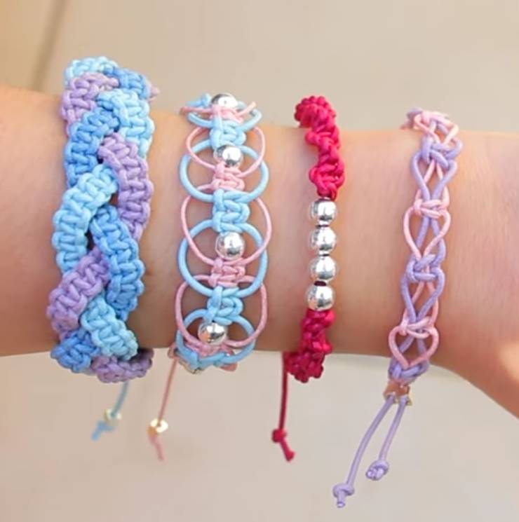 DIY Friendship Bracelets! EASY Stackable Arm Candy Projects - How to make friendship bracelets -