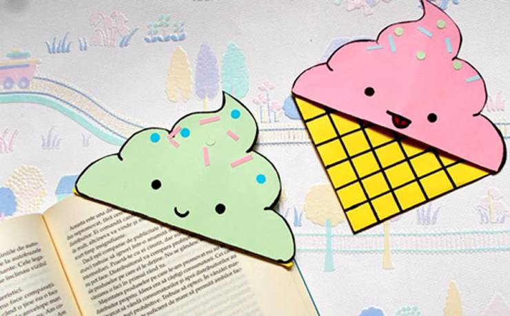 DIY Ice Cream Corner Bookmarks_Tutorial- DIY Corner Bookmarks - Cute Bookmark Ideas - Learn How To Make Corner Bookmarks Tutorial Included
