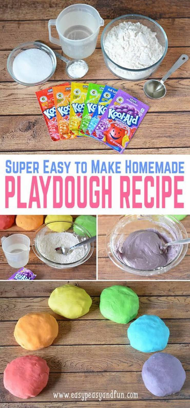 DIY Kool Aid Playdough_No Cook homemade play doh