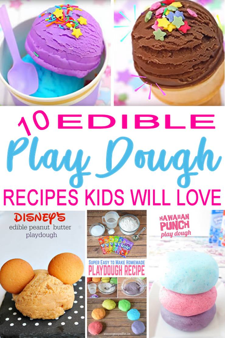 DIY edible playdough _homemade recipes_baby safe-toddler safe