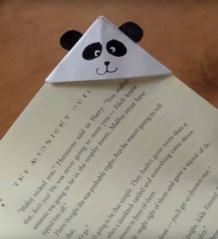 DIY panda corner bookmark-DIY Corner Bookmarks - Cute Bookmark Ideas - Learn How To Make Corner Bookmarks Tutorial Included