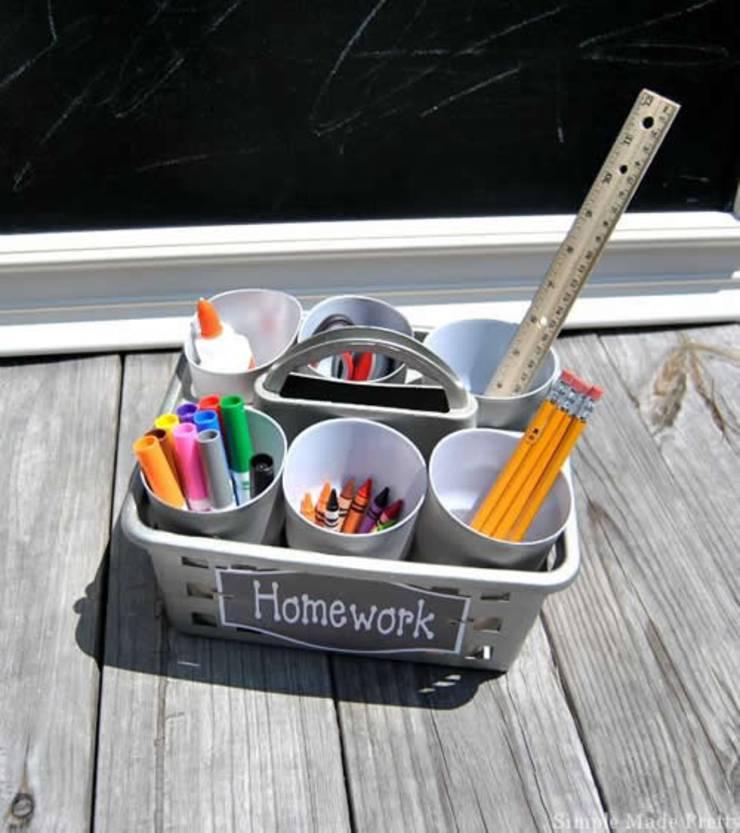 Dollar Store Hack_Organization & Storage_homework station
