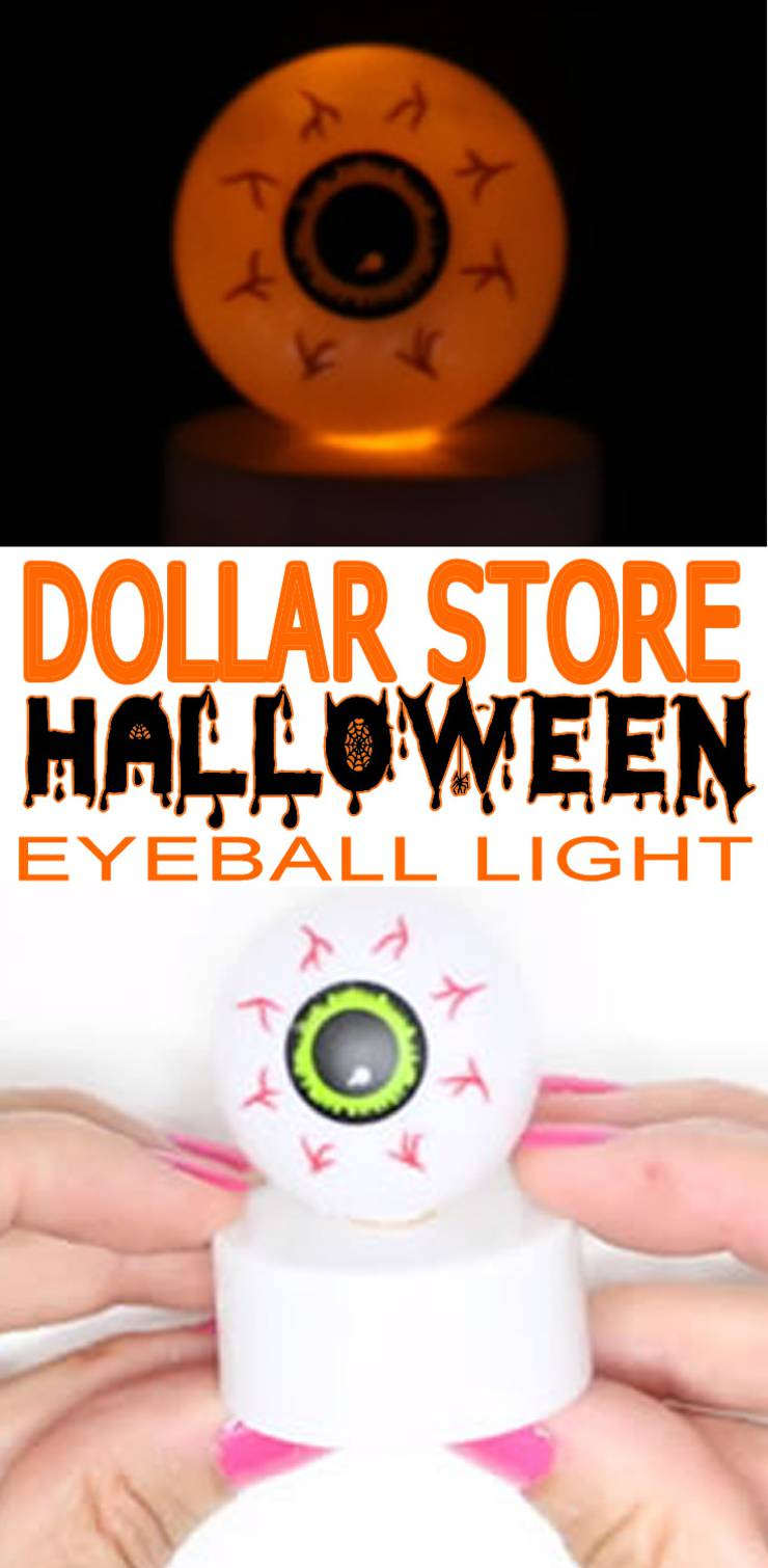 Dollar Store Halloween Decorations - Easy DIY & Scary Bloodshot Eyeball Lights - Simple & Creepy Ideas - Halloween Party-2