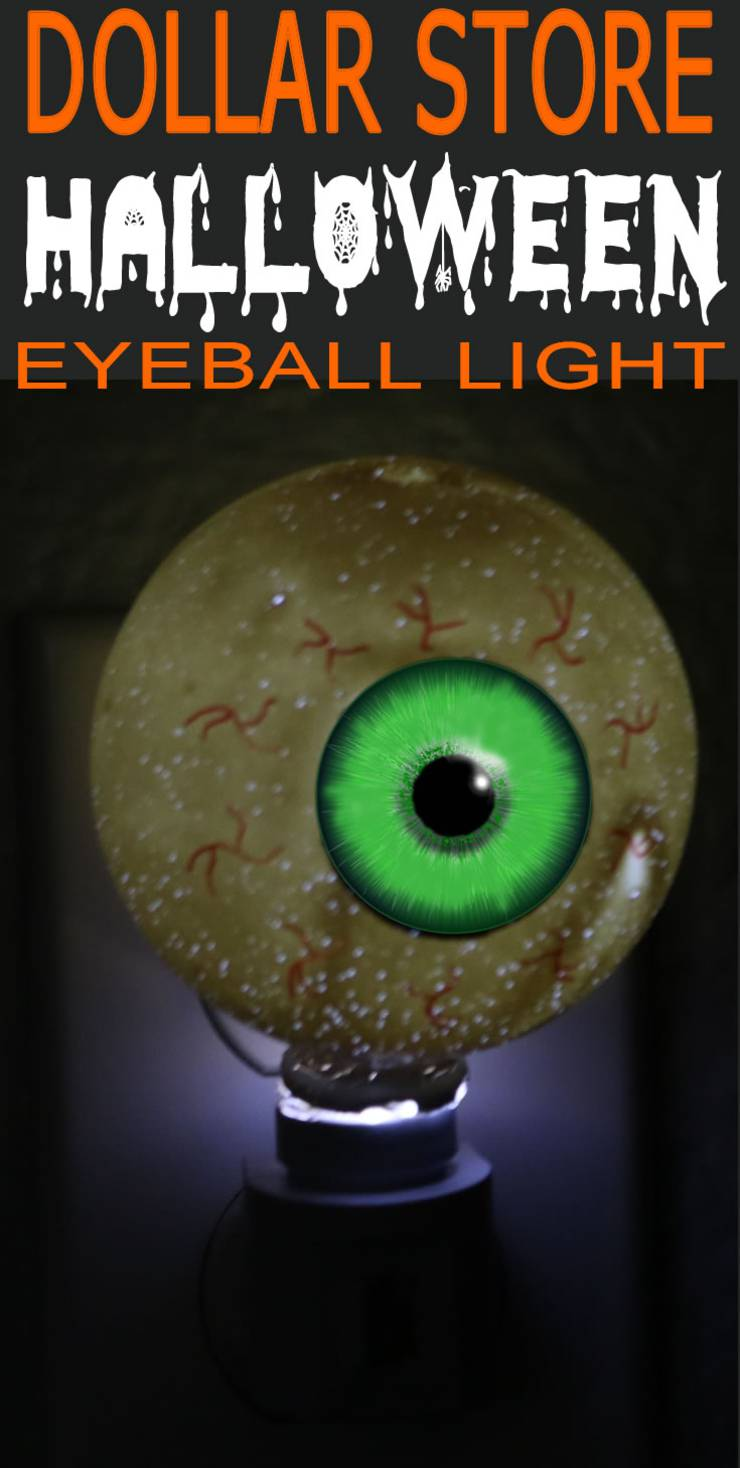 Dollar Store Halloween Decorations - Easy DIY & Scary Bloodshot Eyeball Night Light - Simple & Creepy Ideas - Halloween Party