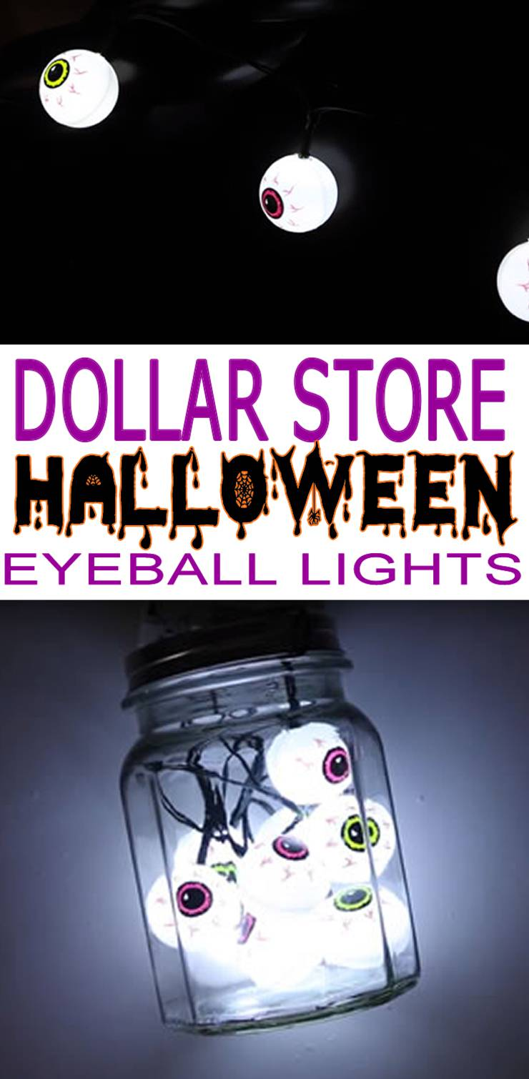 Dollar Store Halloween Decorations - Easy DIY & Scary Bloodshot Eyeball String Lights - Simple & Creepy Ideas - Halloween Party