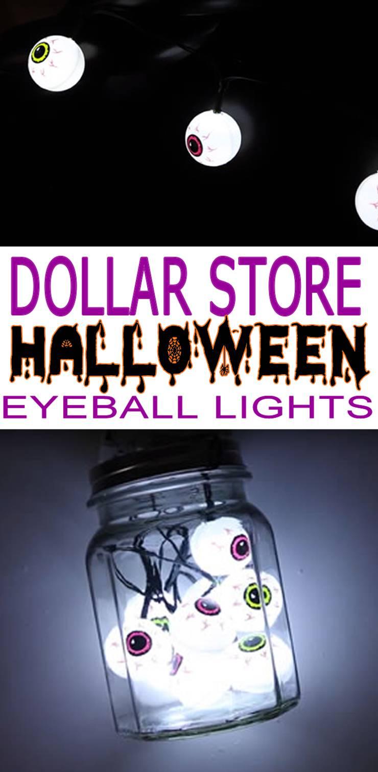 Dollar Store Halloween Decorations - Easy DIY & Scary Bloodshot Eyeball String Lights - Simple & Creepy Ideas - Halloween Party