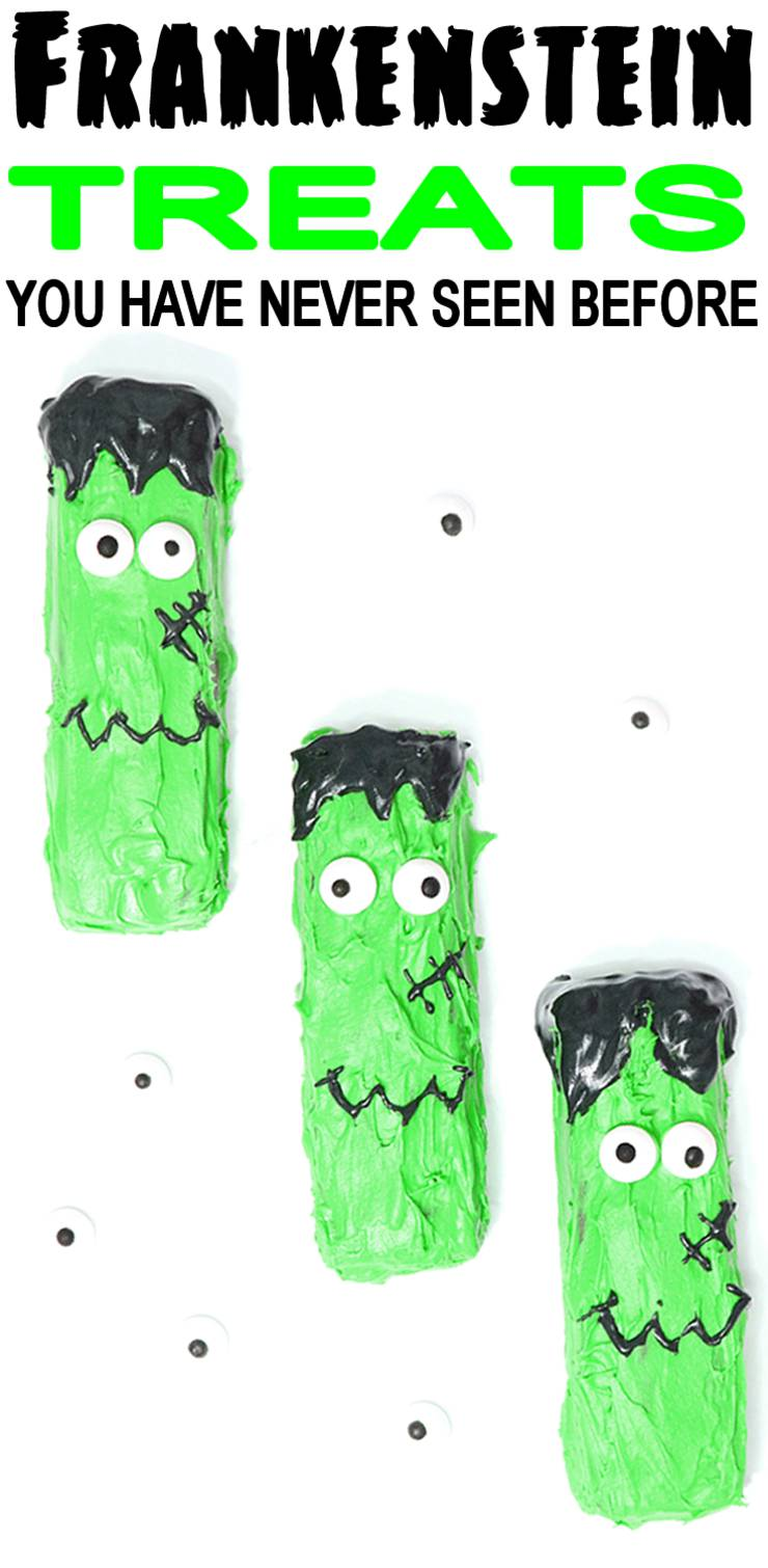 Frankenstein Treats_Homemade Easy DIY Halloween Snacks_Party Ideas