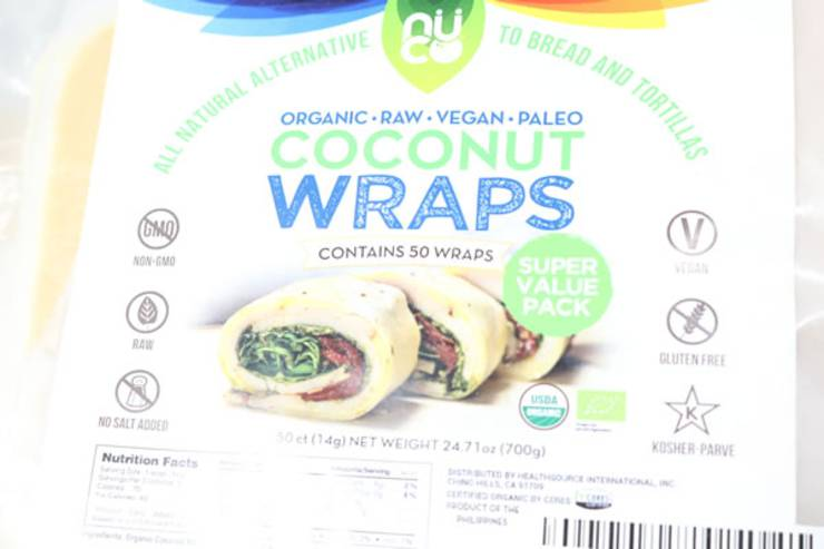 Keto Breakfast Recipe - Low Carb Egg - Spinach - Coconut Wrap - Gluten Free {Easy} - Nuco Coconut Wraps -Organic -raw- vegan - paleo