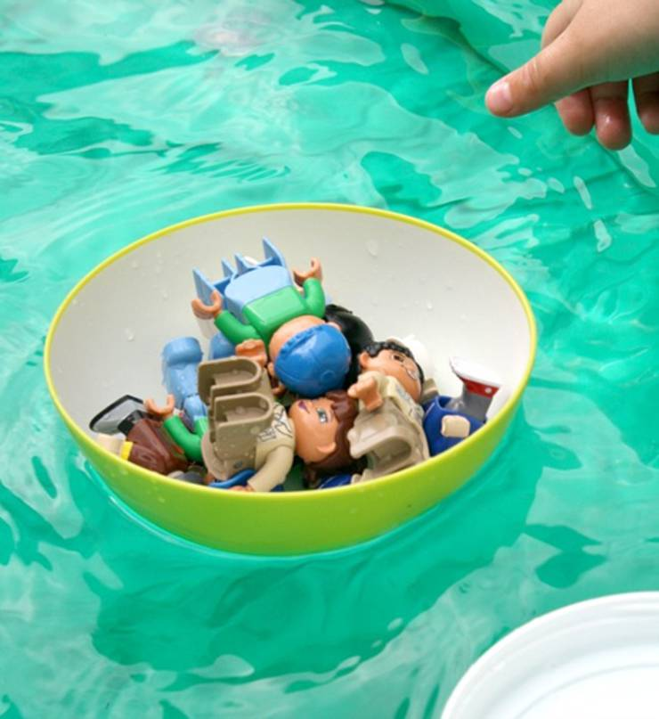 boat float science experiment for preschool