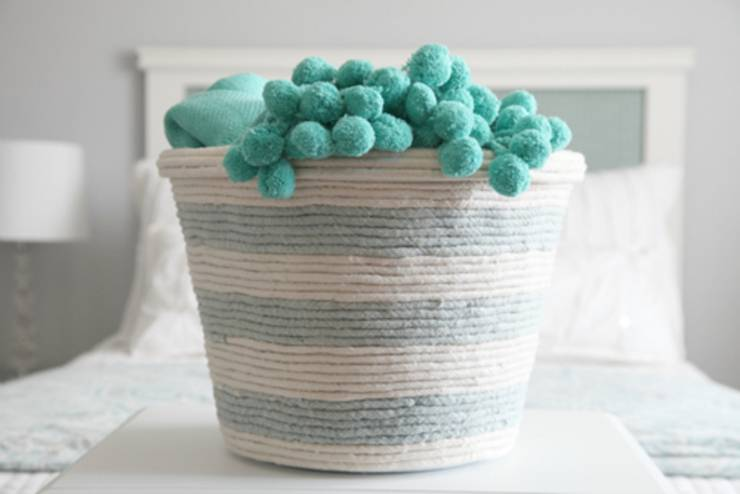 diy dollar store hack with laundry basket