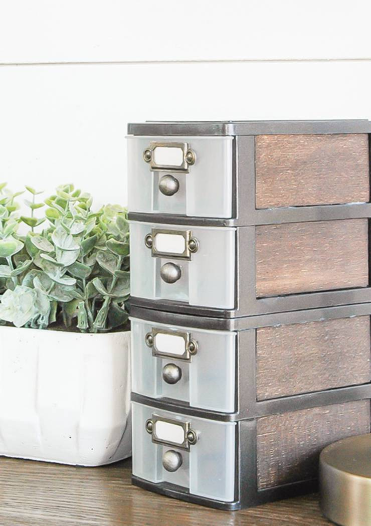 diy dollar store hack with mini dollar store storage drawers - DIY Dollar Store Hacks   Organization & Storage Ideas - DIY Projects For Home