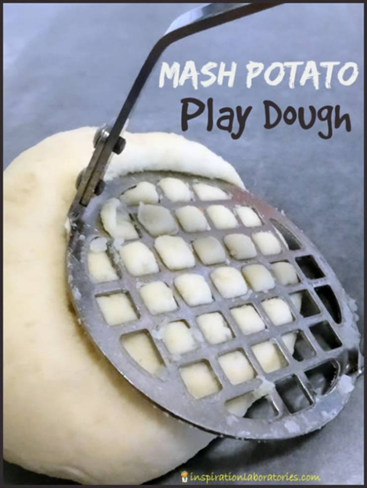 homemade 2 ingredient edible mash-potato-playdough