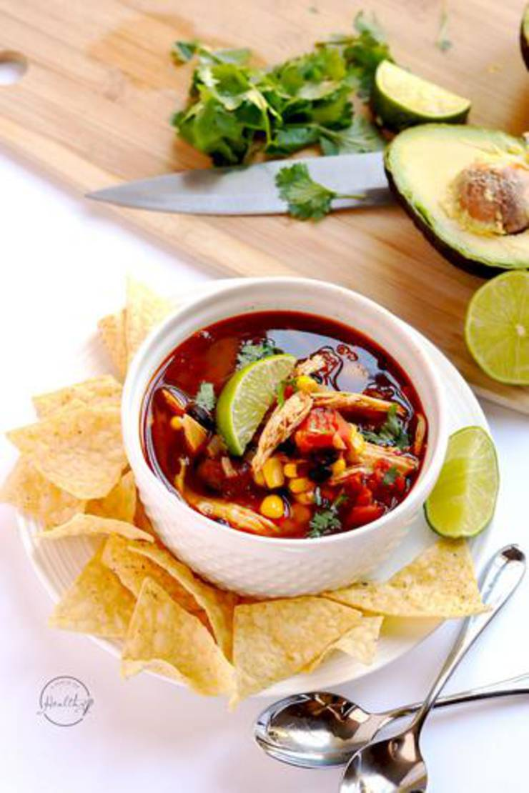 Instant Pot Chicken Tortilla Soup! Chicken Instant Pot Recipes - Easy & Simple Healthy Dinners - Frozen or Fresh Chicken Ideas #instantpot #instantpotchicken #instantpotrecipes