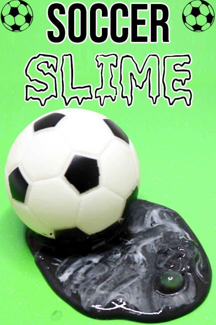 2 Ingredient Slime Recipe! BEST Soccer Slime - How To Make Homemade Slime - DIY Soccer Craft Idea - Party Favors - Gifts - soccer mom