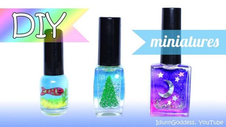 3 DIY Miniatures In Nail Polish Bottles