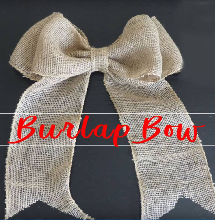 DIY Easy Burlap Bow