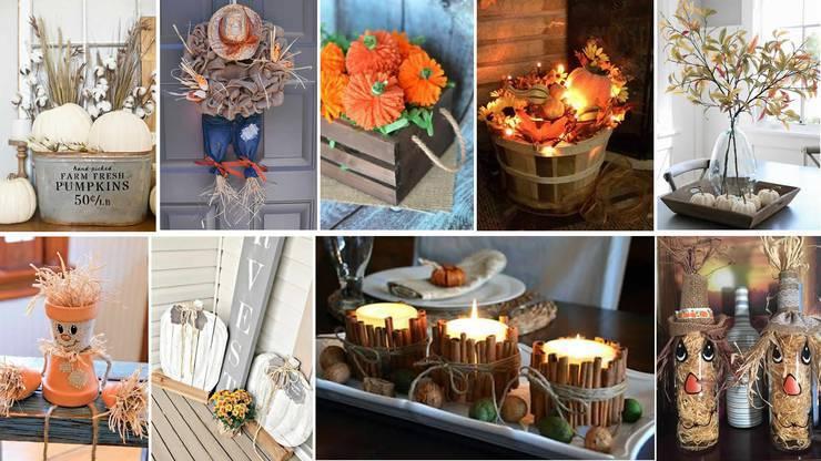 DIY Fall Decorations - Cheap - Easy Outdoor & Home Decor - DIY Fall Craft Ideas