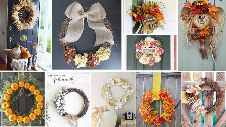 DIY Fall Wreath - Cheap - Easy Wreath Ideas For Front Door - How To Make - Simple Tutorials