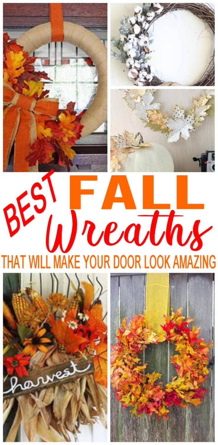 Diy Fall Wreath Cheap Easy Wreath Ideas For Front Door How To Make Simple