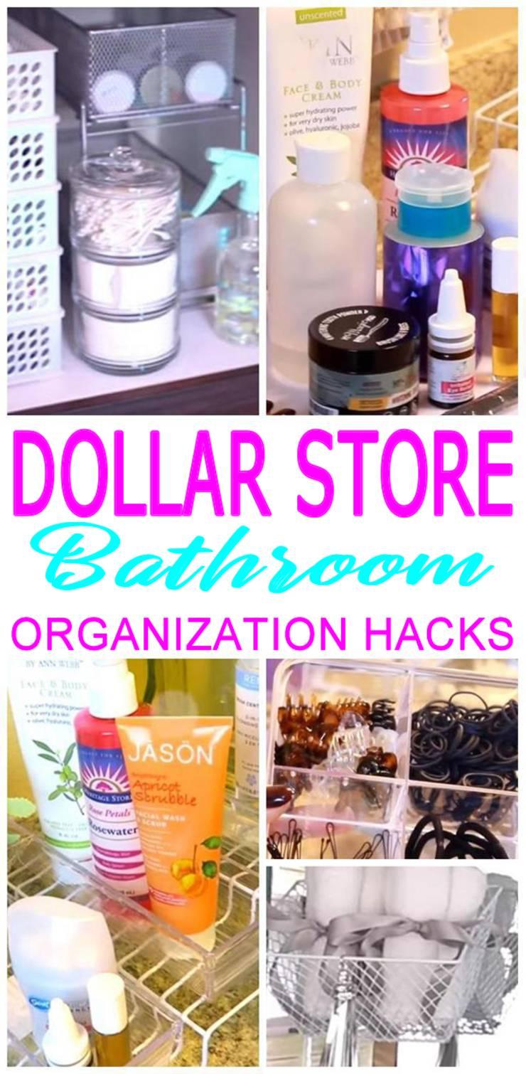 Dollar Store Hacks Bathroom Organization Storage Ideas Diy