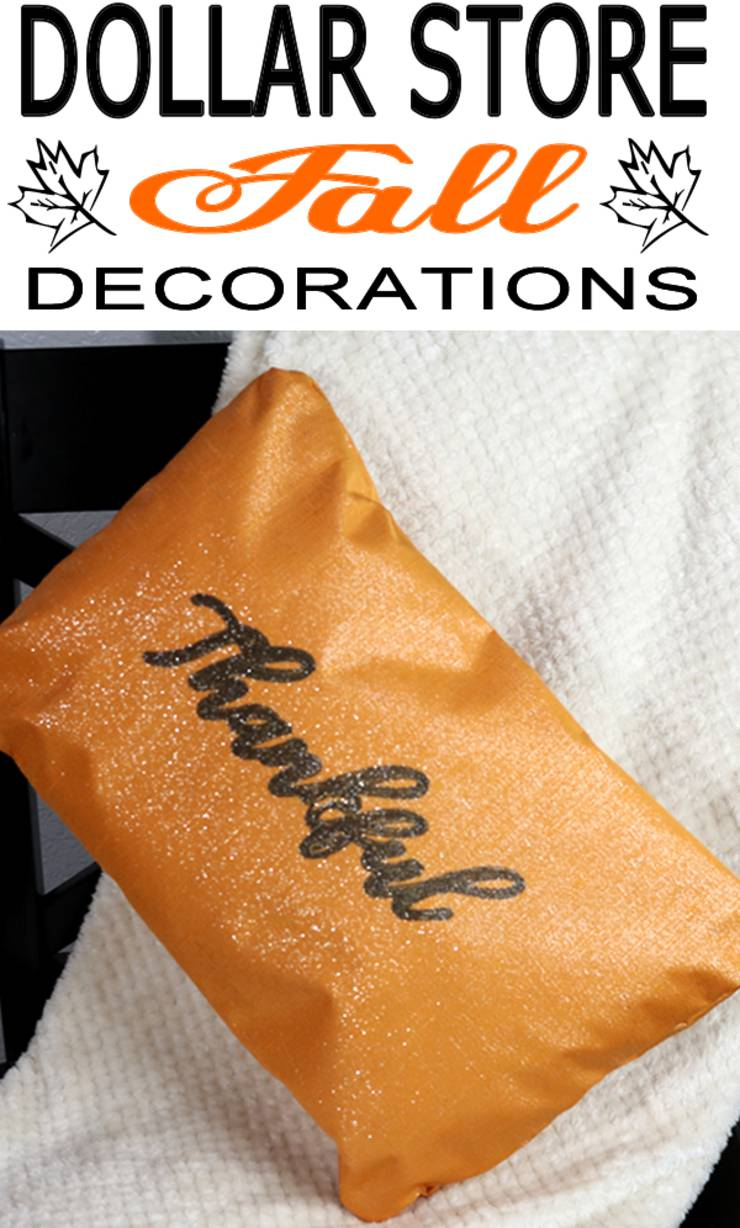 Dollar Store Fall Decorations - Easy DIY No Sew Pillow - Simple & Awesome Autumn Ideas - Dollar Tree DIY Projects