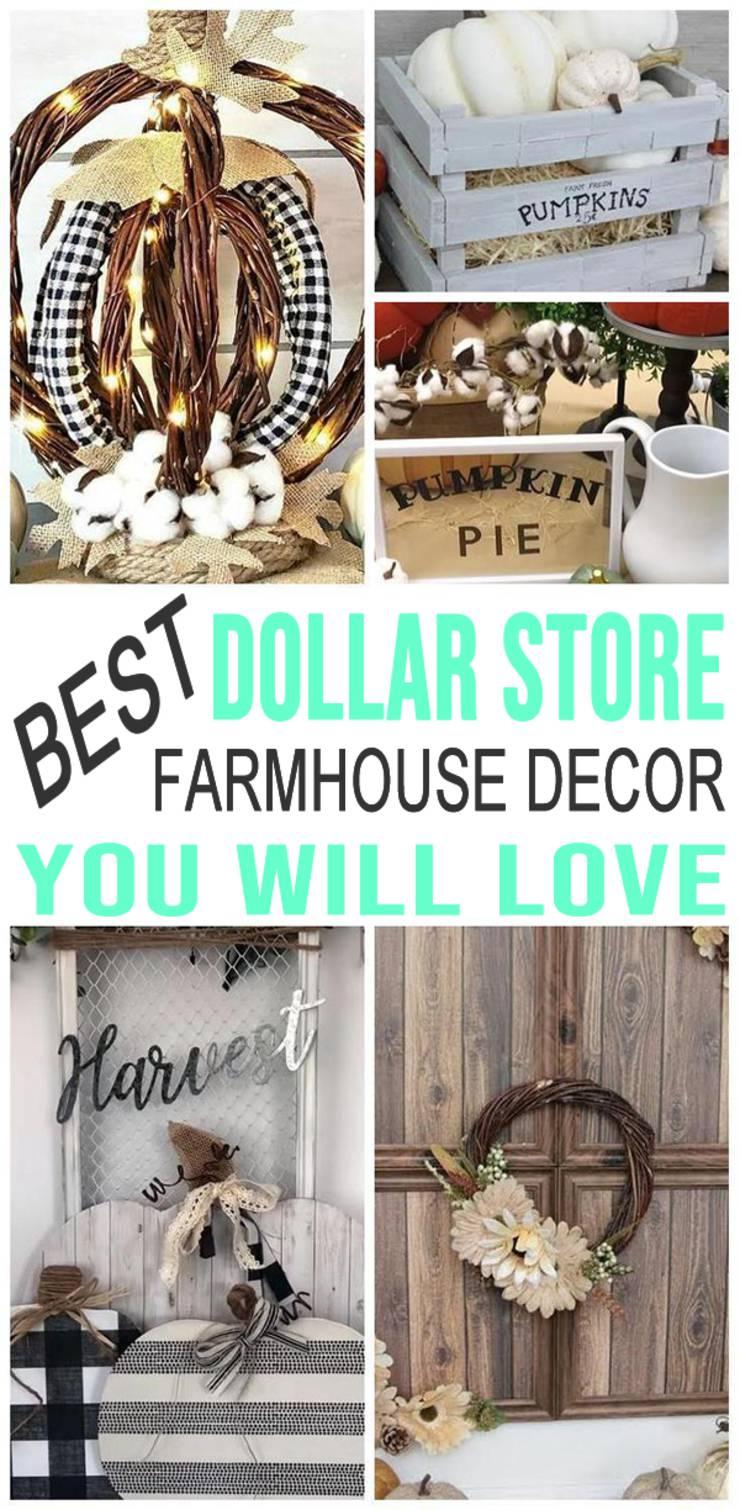 Farmhouse Fall Decor Diy Dollar Store Farmhouse Decor Ideas