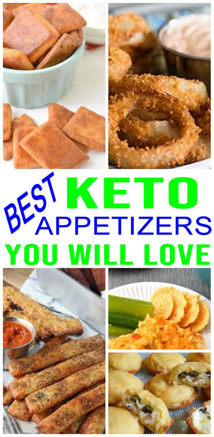 Keto appetizers! Find cold keto appetizers, keto vegetarian appetizers, vegan keto appetizers, keto appetizers dairy free and more. Best keto appetizers for a crowd. Low carb potluck ideas, keto appertizers for Christmas, Thanksgiving, game day, tailgate parties & more.