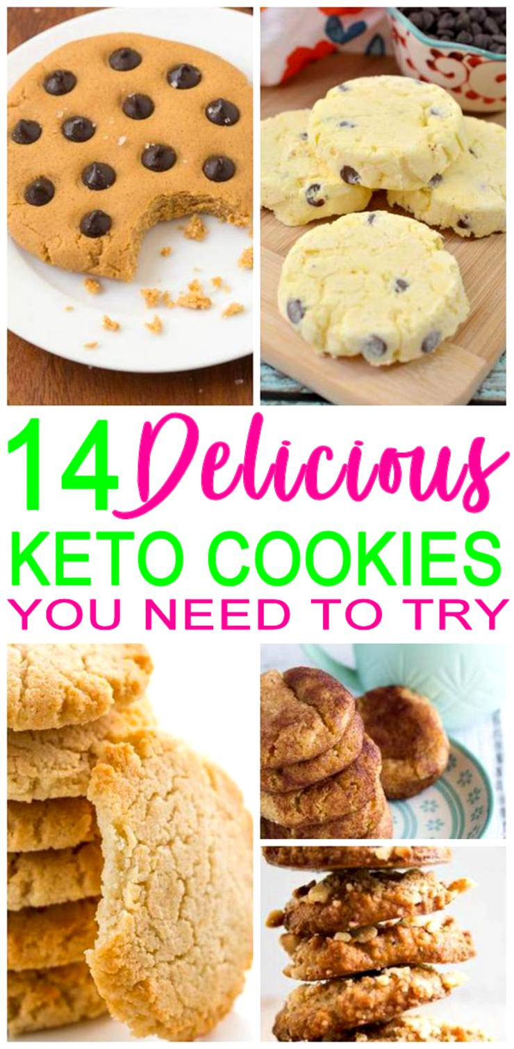 14 Keto Cookies – BEST Low Carb Cookie Recipes – Easy Ketogenic Diet Ideas