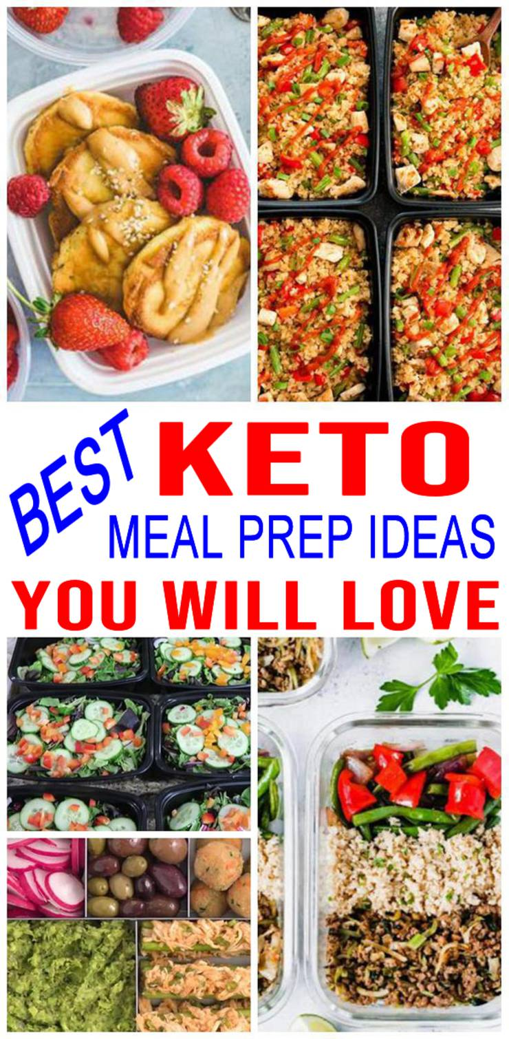 Keto Meal Prep – Low Carb Meals For The Week – EASY Breakfast – Lunch – Dinner Recipes – BEST Container Ideas For Ketogenic Diet